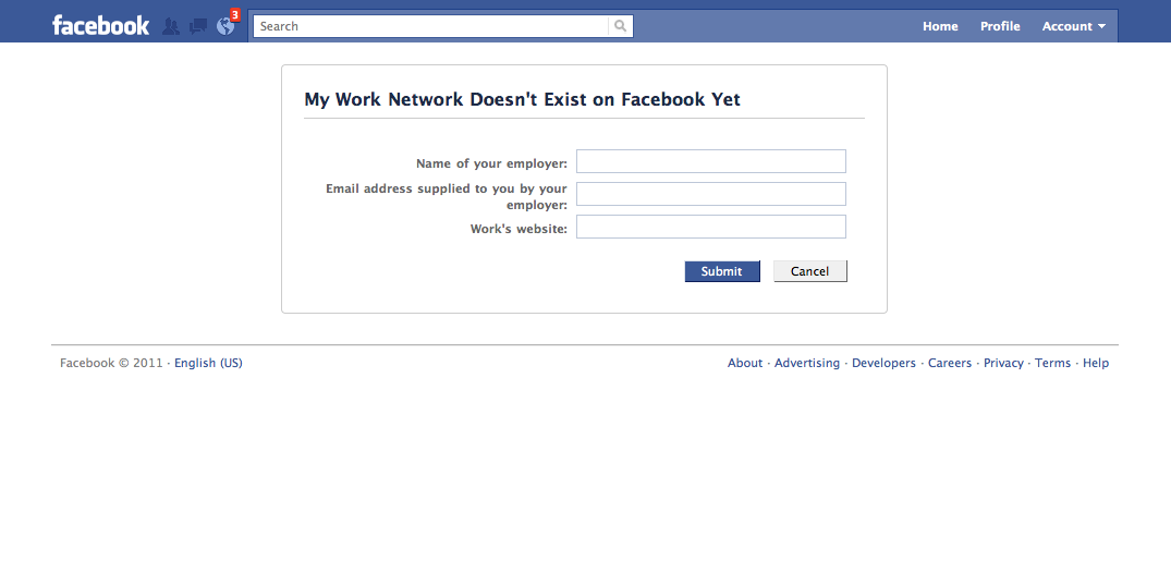 how to create a new facebook network