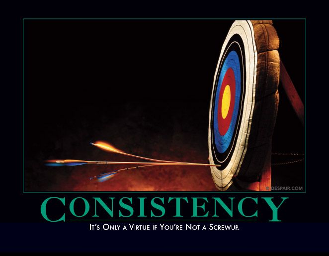 Consistency: It's only a virtue if you are not a screwup.