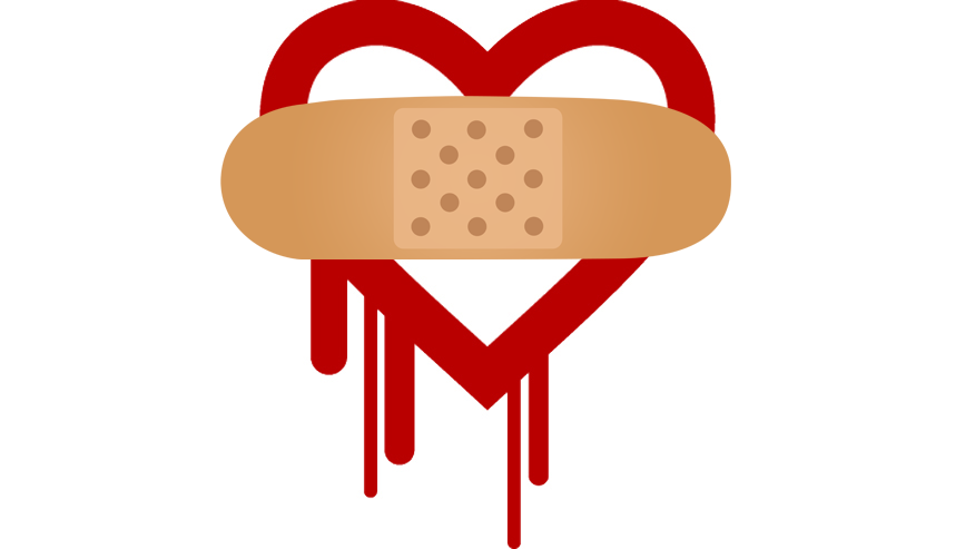Heartbleed logo with bandaid