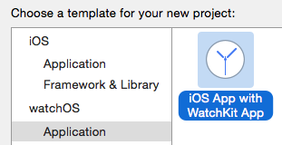 New Xcode Project for WatchOS