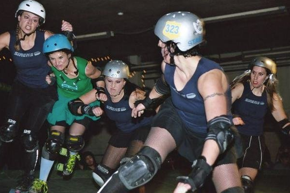 Hayli dominates the roller derby rink as Stabitha