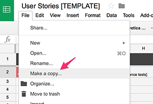 User story insights using google sheets metal toad for As a user i want user story template