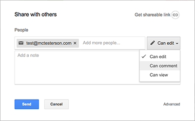Google offers excellent support for sharing documents and sheets with other people