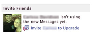 facebook messages invite