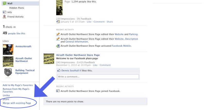 facebook places merge