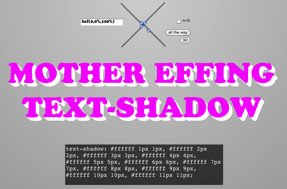 Mother Effing Text-Shadow