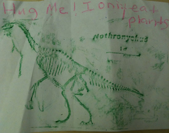 Dinosaur drawing present