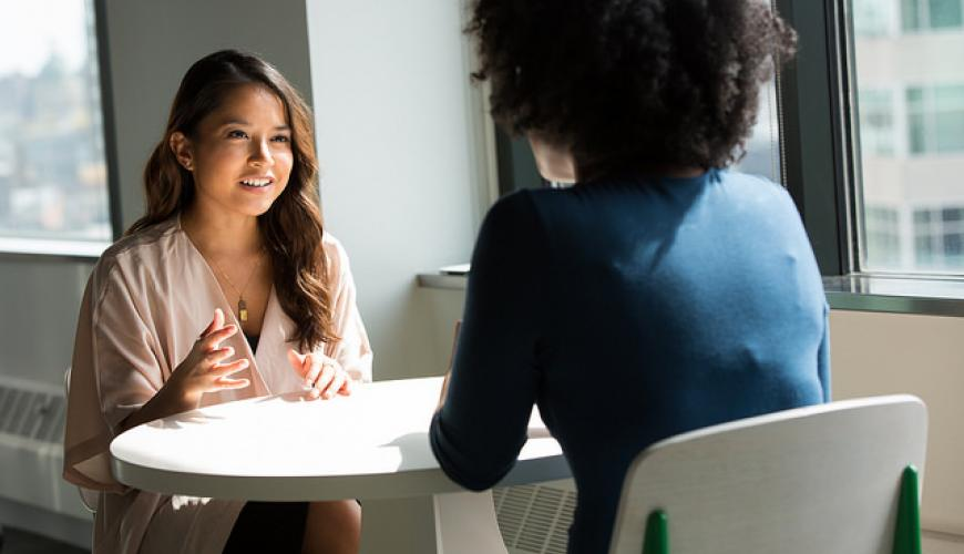 Recruiter interviewing candidate