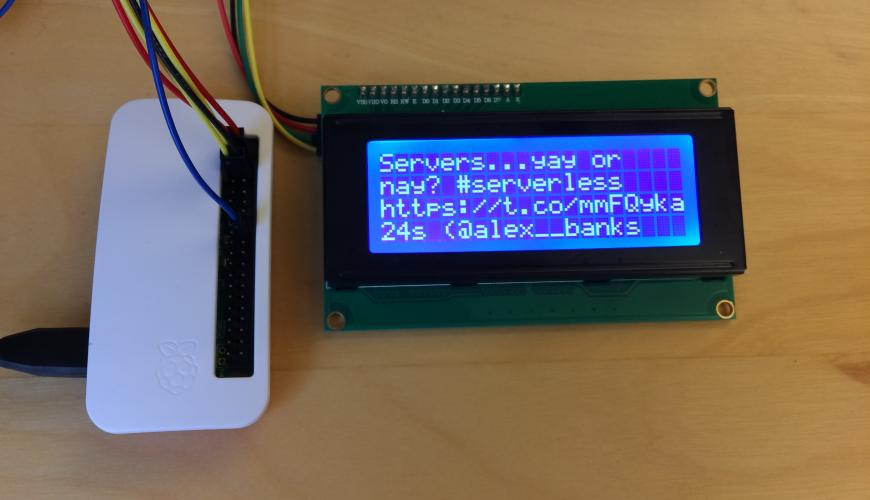 Creating a Twitter ticker with a Raspberry Pi | Metal Toad