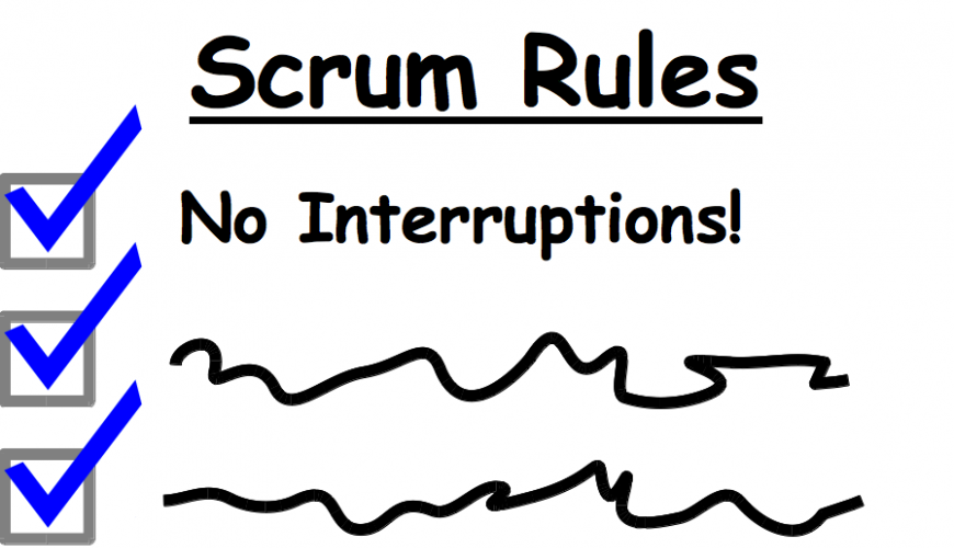 ScrumMaster Rules - No Interruptions